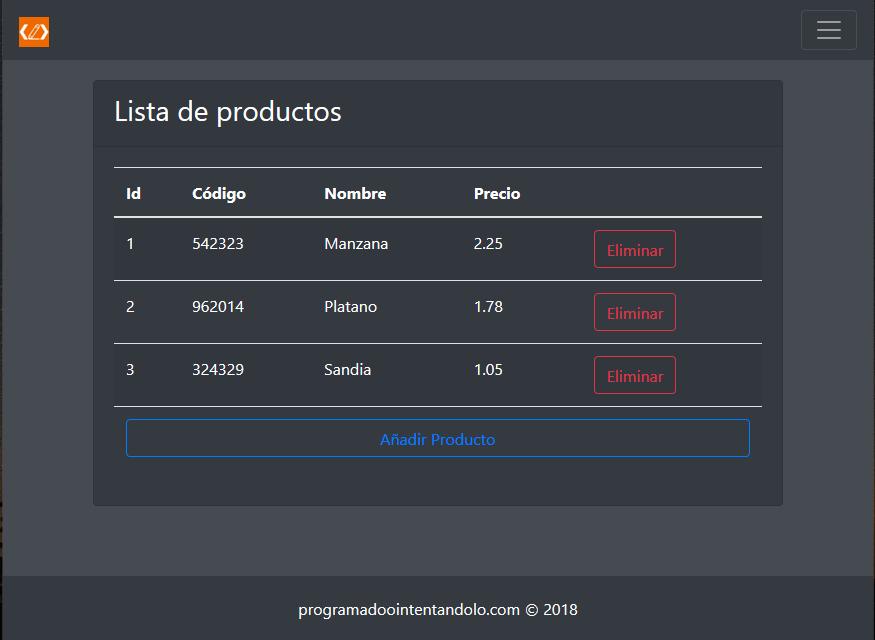 Aplicacion Spring Boot + Thymeleaf + Bootstrap