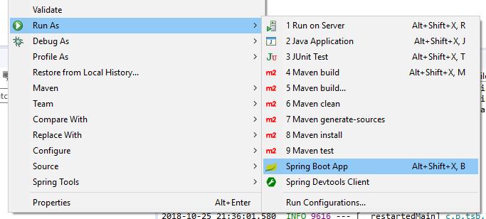 Arrancar aplicacion Spring Boot